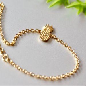 Minimalist Pineapple Charm Bracelet-GOLD